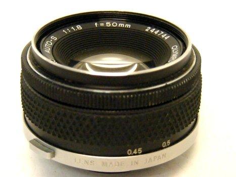 50mm f1.8 Olympus OM Auto S Lens