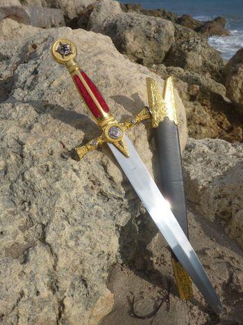 """21 """" Ceremonial Masonic Dagger - Knights Templar"""