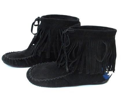 Aldo Women's Moccasin Fringe Booties- Size 9