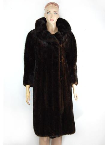 MINK - Dark Mahogany Color Mink Coat - Size M/L - $5,000.00 Cold Storage Value