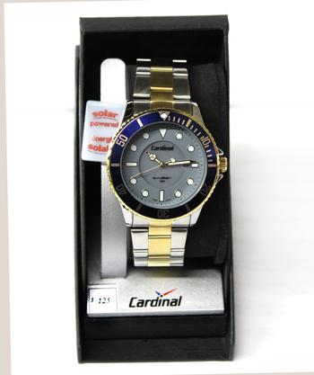 CARDINAL - Men's Solar Powered Watch - Retail $125.00