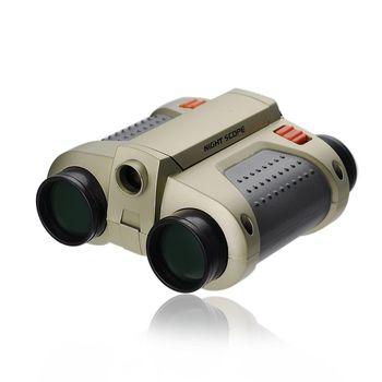 New 4 X 30mm Surveillance Scope Night Vision Kids Binoculars With Pop-Up Lamp
