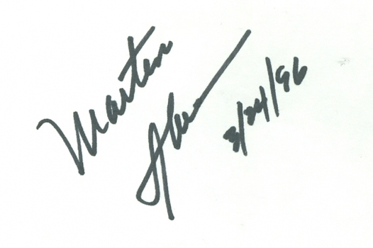 Martin Sheen Actor Apocalypse Now Signed Autographed 3x5 Index Card w/coa $300 Retail