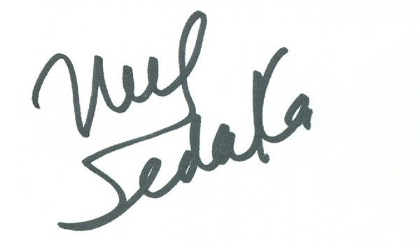 Neil Sedaka American Singer Signed Autographed 3x5 Index Card w/coa $350 Retail