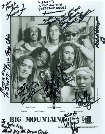 Big Mountain Band All Members Signed Autographed 8x10 Photo w/coa $600 Retail