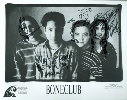 Bone Club American Rock Band All 4 Members Signed Autographed 8x10 Photo w/coa $400 Retail