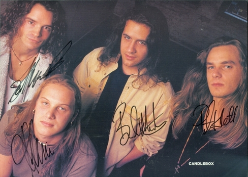Candlebox Rock Band 4 Members Signed Autographed 8x10 Photo w/coa $400 Retail