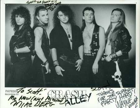 Crash Alley Musical Group 3 Members Signed Autographed 8x10 Photo w/coa $400 Retail