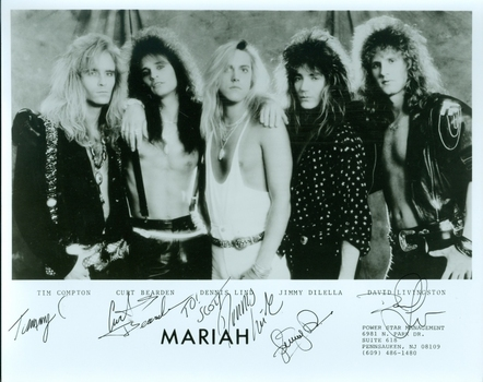 Mariah Rock Band All 5 Members Signed Autographed 8x10 Photo w/coa $400 Retail