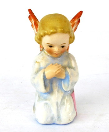 Small Hummel Figurine of Kneeling Praying Angel