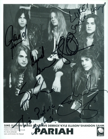 Pariah Metal Band All 5 Members Signed Autographed 8x10 Photo w/coa $400 Retail