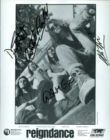 Reigndance Rock Band Signed 4 Members Signed Autographed 8x10 Photo w/coa $300 Retail