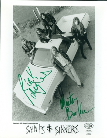 Saints & Sinners Canadian Rock Band 2 Members Signed Autographed 8x10 Photo w/coa $400 Retail