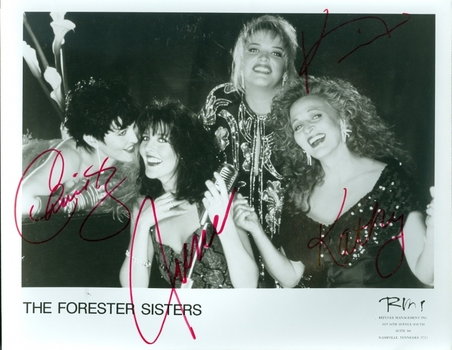 The Forester Sisters Musical Group 3 Members Signed Autographed 8x10 Photo w/coa $400 Retail