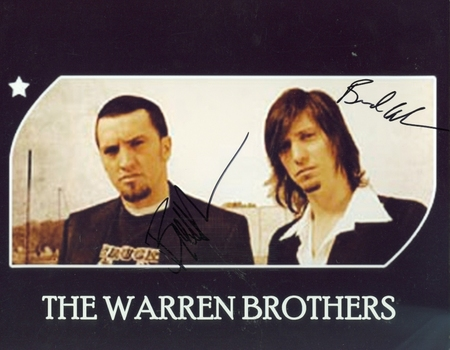 The Warren Brothers Musical Duo Brett Brad Signed Autographed 8x10 Photo w/coa $300 Retail