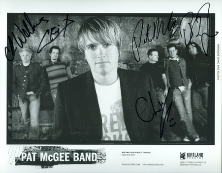 Pat McGee Band Rock Band Signed Autographed 8x10 Photo w/coa $400 Retail