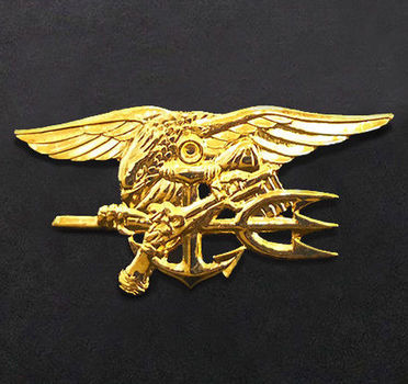 Navy SEAL Team Trident Badge Pin - Full Size