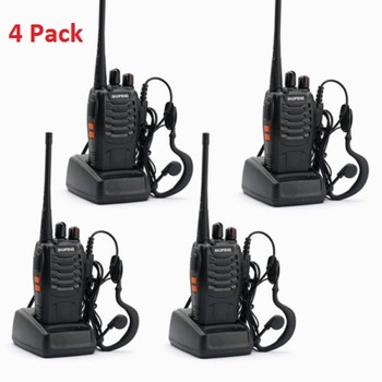 4 Pc Baofeng 16 Channel Two-way Ham Radio Walkie Talkies