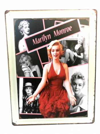 "Many Faces of Marilyn Monroe Metal Sign 12"" x 15"""