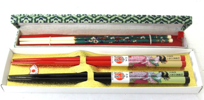 3 Sets of Decorated Chopsticks