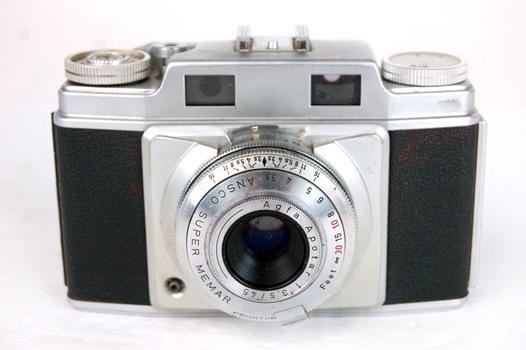Circa 1950's Ansco Super Memar 35MM Camera - With Leather Case