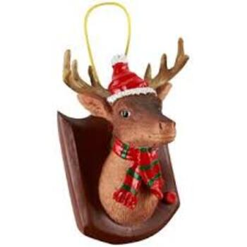 Gemmy Buck The Deer Dinging Christmas Ornament