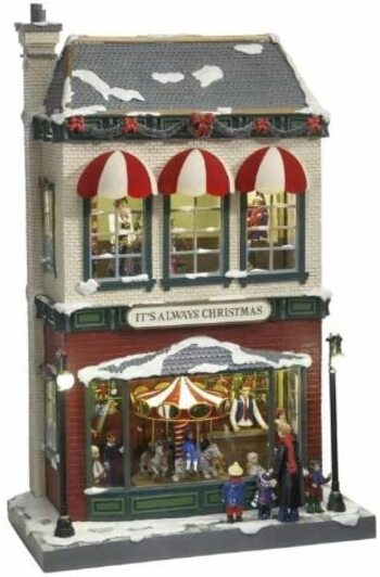 Mr. Christmas Gold Label Hyde Park Animated Village Christmas Decoration