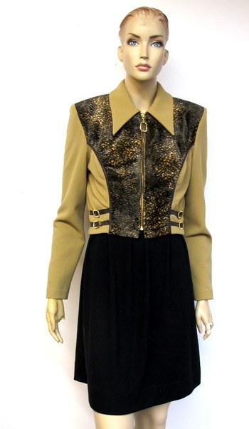 Vintage Women's Zip Up Jacket-Size 8