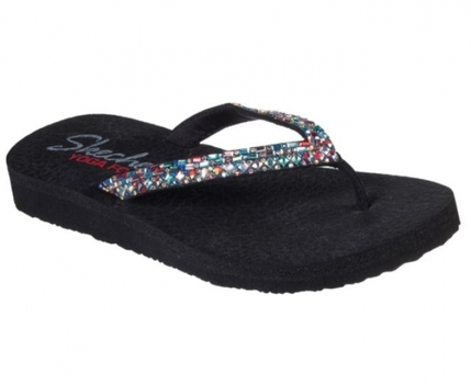 Skechers Meditation Shine Away Sandal Color: Black/.Multi, Size: 10, Retail: $45.00 CAD