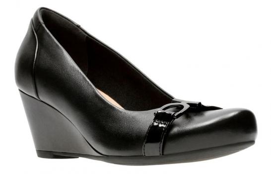 Clarks Flores Poppy Wedge Women's Shoe, Color: Black, Size: 10 M, Retail: $120.00 CAD