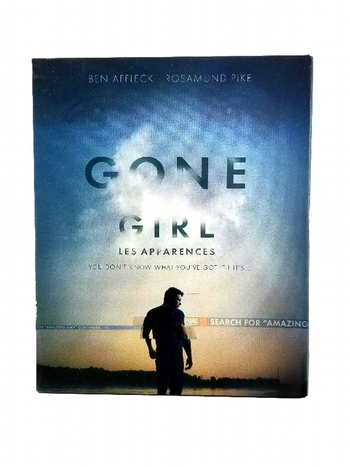 Gone Girl Blu-ray DVD Bilingual 2014 with Amazing Amy Book