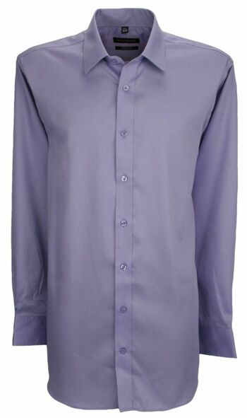 "New With Tags Bellissimo Modern Fit Wrinkle Free Cotton Shirt Size 15"" Tall Lavender"