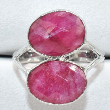 Sterling Silver Dyed Ruby Sz 7 Retail $200.00
