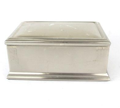 Vintage Stainless Steel Jewelry/Trinket Box