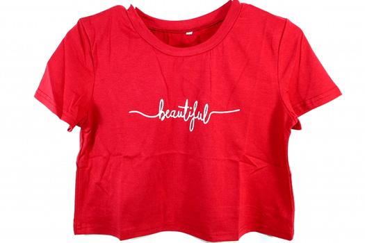 Ladies Red T-Shirt Sz S