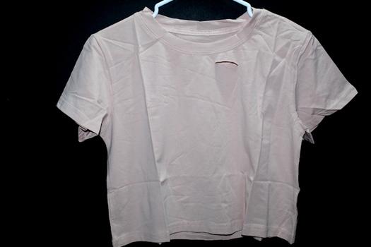 Ladies Distressed Rose T-Shirt Sz S