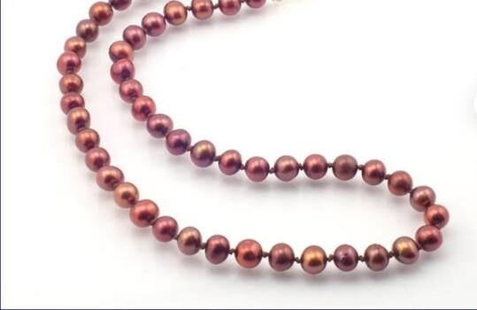 Swarovski Crystal Pearl Necklace Burgundy 5 Pieces
