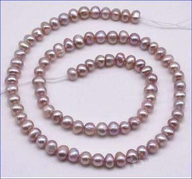 Swarovski Crystal Pearl Necklace Mauve 5 Pieces