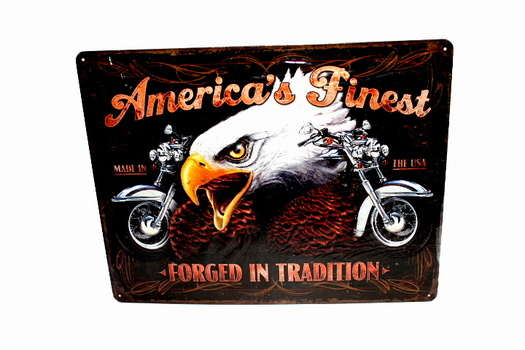 Large Harley Davidson Metal Sign