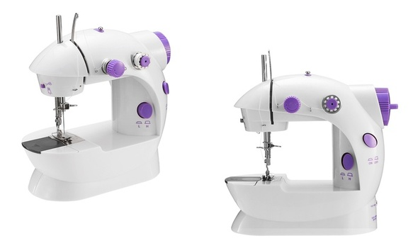 iMounTEK SM-202A Portable 2-Speed Mini Electric Sewing Machine with Foot Pedal