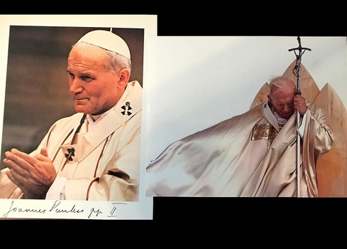 2 Pictures Of The Pope One Signed (Prints)