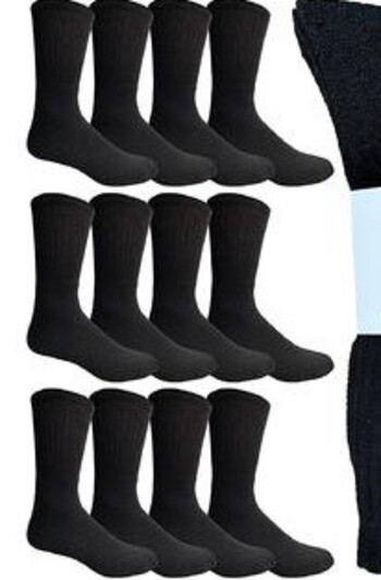 12 Pair Men's New Socks Sz 9-13