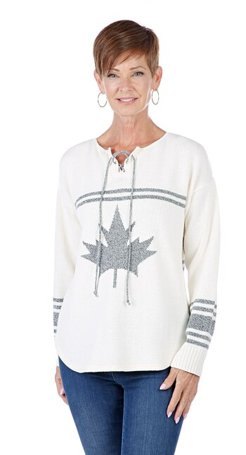 Parkhurst Ladies Hockey Sweater, Natural, Small, Retail: $107