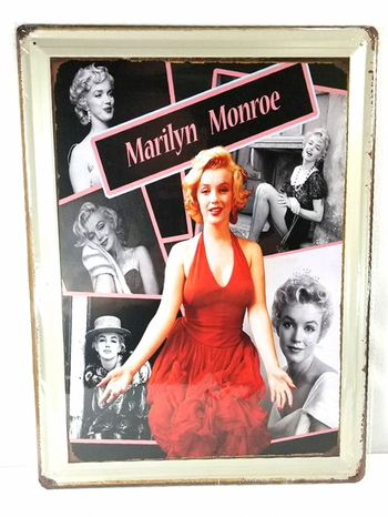 Many Faces of Marilyn Monroe Metal Sign