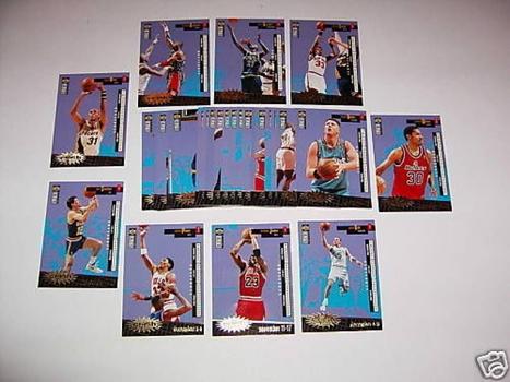 Crash the Game Spanish 30 Card Insert Set 96 1996-97 Jordan Kemp Pippen Garnett