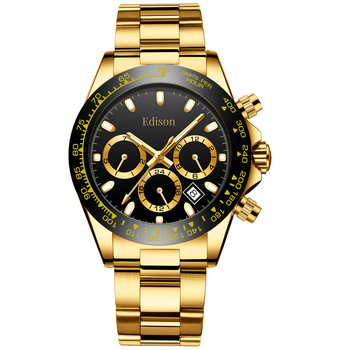 Edison Men's New Chronograph Watch Retail $600.00