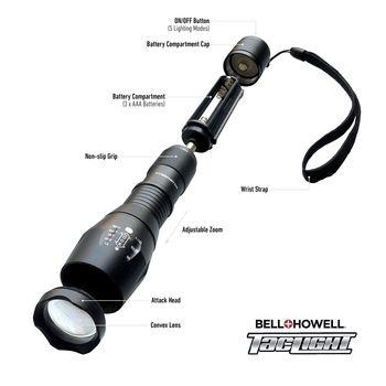Bell + Howell CREE LED 40X Brighter Taclight Flashlight