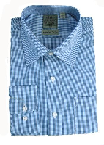 """Men's Designer Bespoke Cotton Dress Shirt - Size M-15 1/2"""" - $125.00 Retail"""