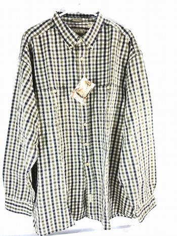 NWT Khaki's Arrow Big Shirt Mens Button Up Long Sleeve Shirt - Size 2XL - 100% Cotton