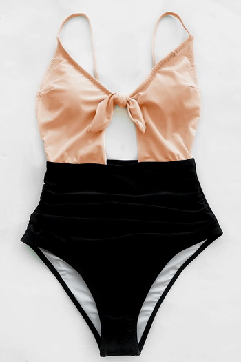 NWT Cupshe Sweet Honey Bowknot One-piece Swimsuit- Size XL